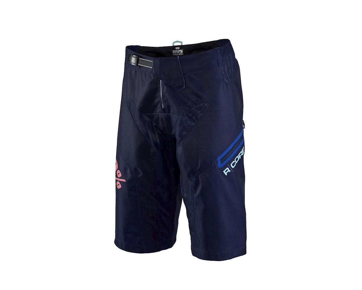 100% R-Core Supra DH Shorts, 34 - black/cyan  NLA (XS) (28)