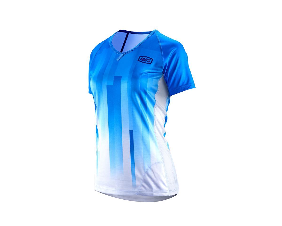 100% Airmatic Womens MTB Jersey (Blue) (L)  44305-002-12   96efd3ef5