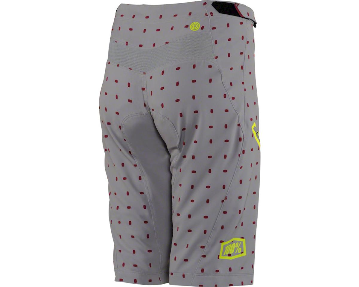 100% Airmatic Women's MTB Short (Grey/White) (XL)