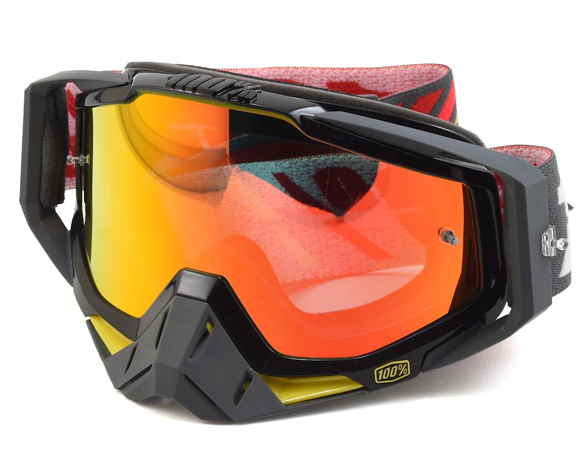 100% RaceCraft Goggles (Fortis) (Mirror Red Lens)