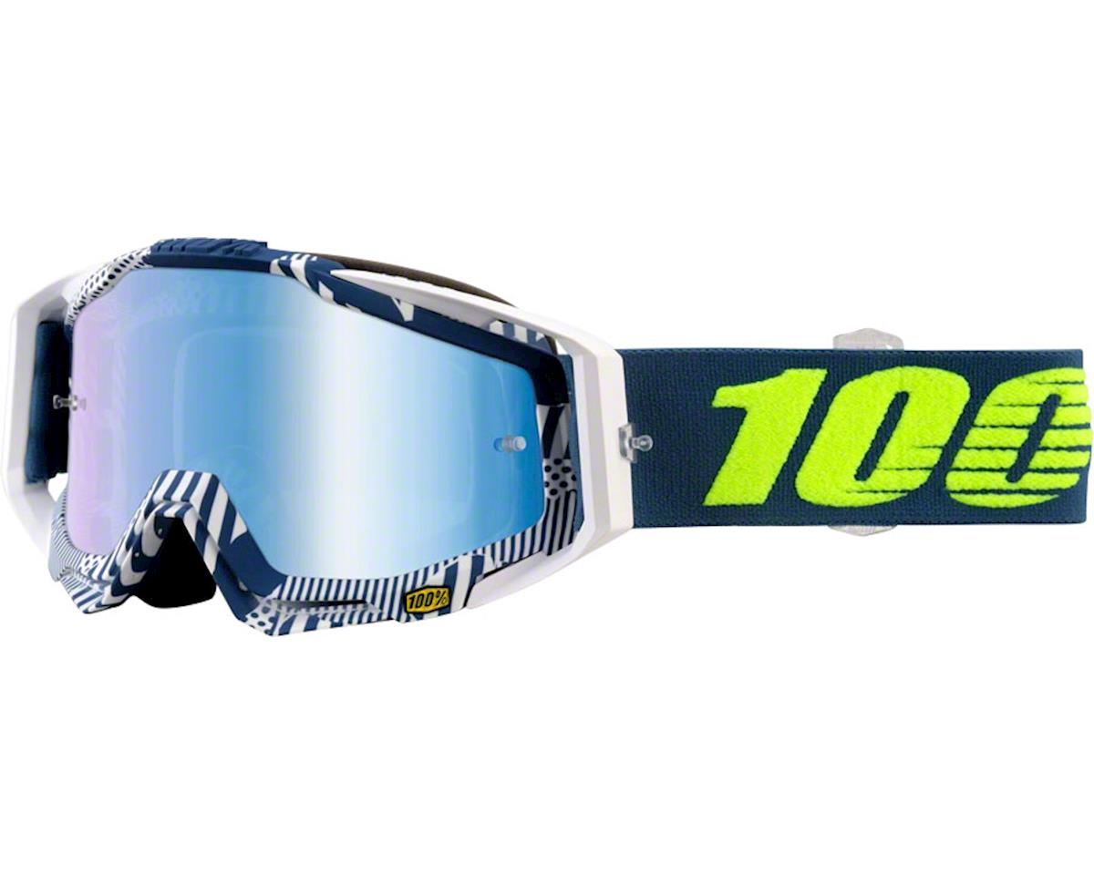 Racecraft Goggles (Eclipse) (Mirror Blue Lens) (Spare Clear Lens)