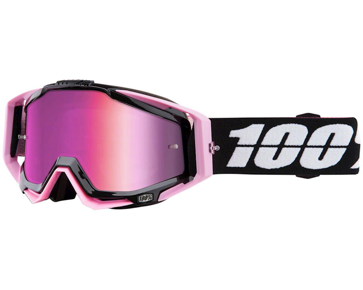 100% Racecraft Goggle: Floyd with Mirror Pink Lens, Spare Clear Lens Included