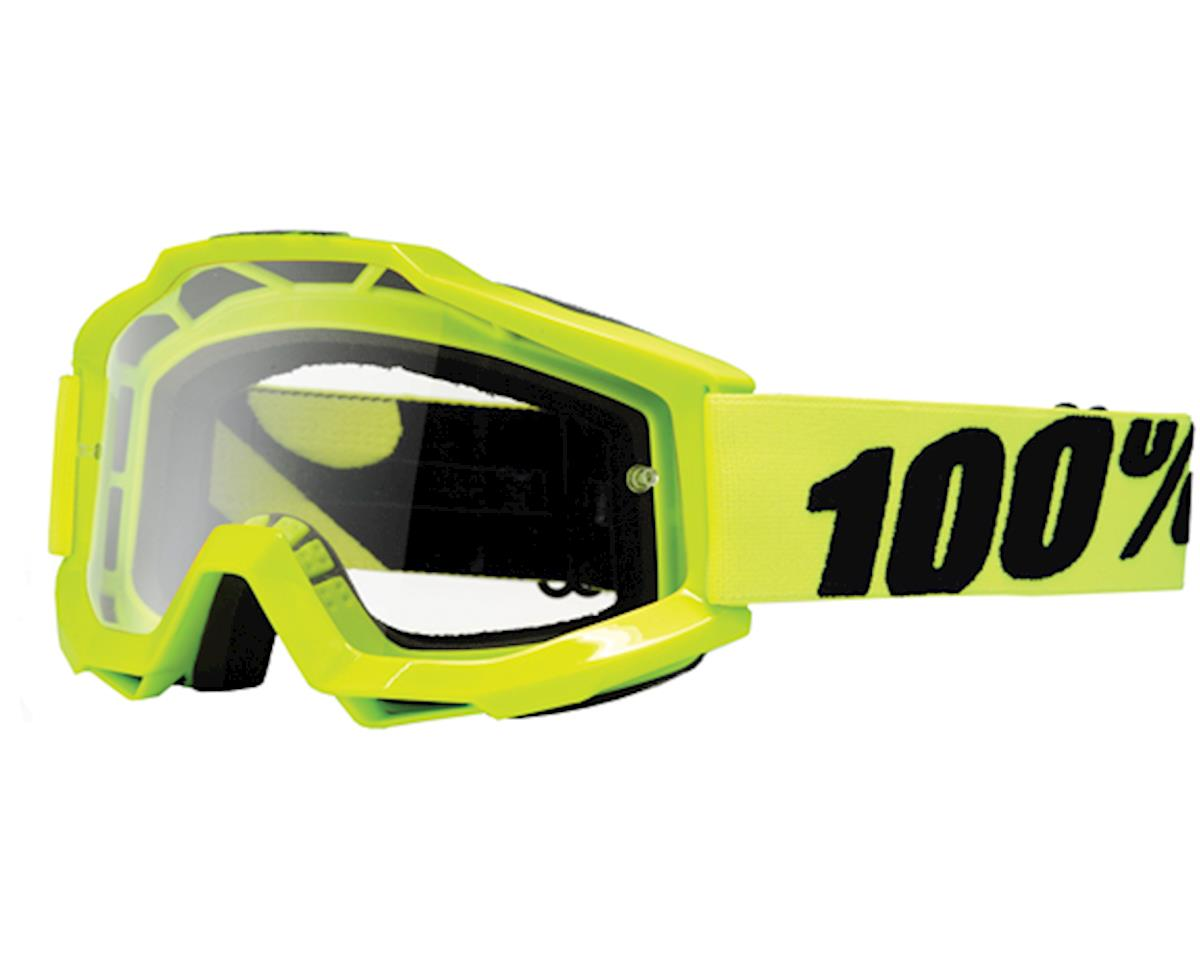 100% ACCURI Goggles (Fluo Yellow) (Clear Lens)
