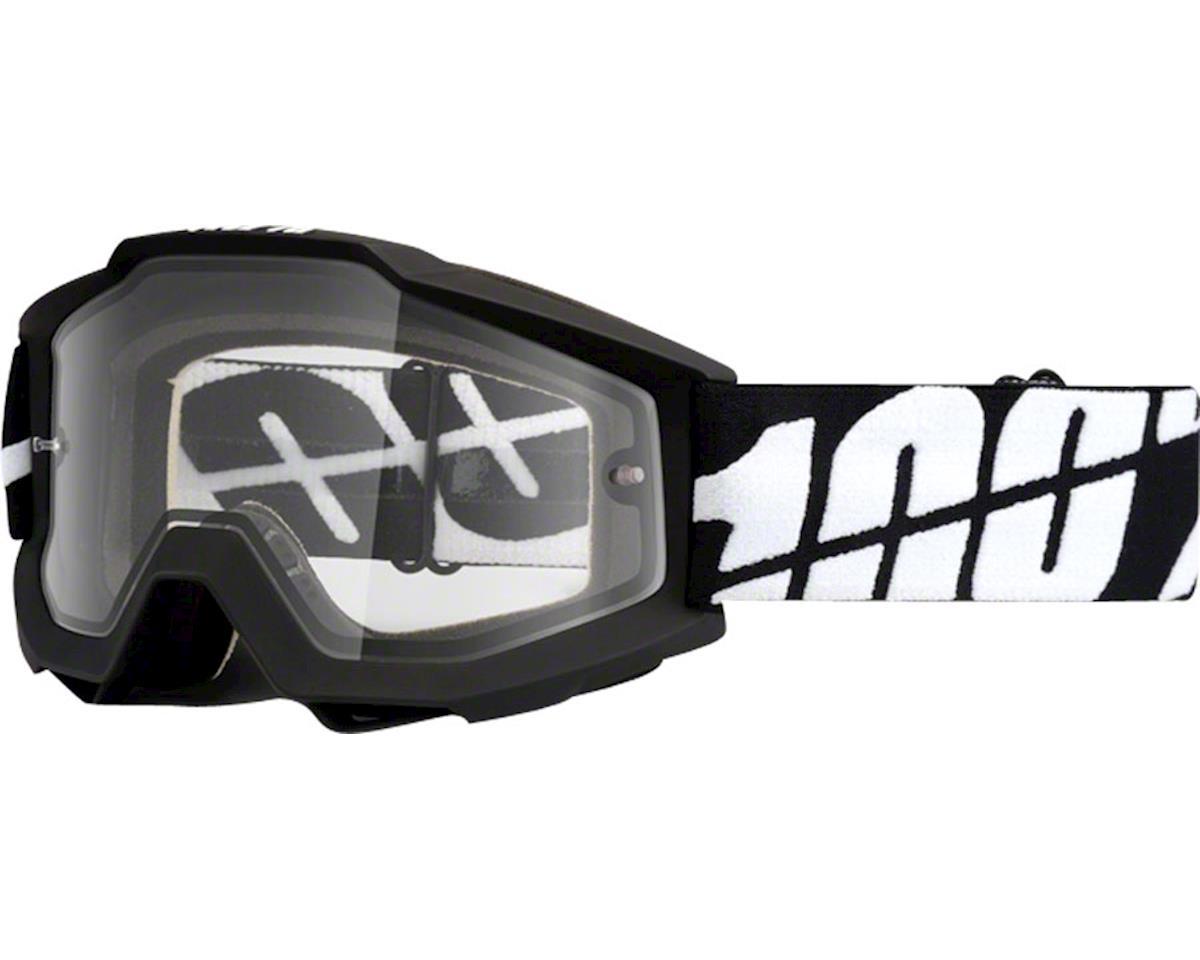 100% Accuri Enduro Goggle (Black Tornado) (Clear Lens)