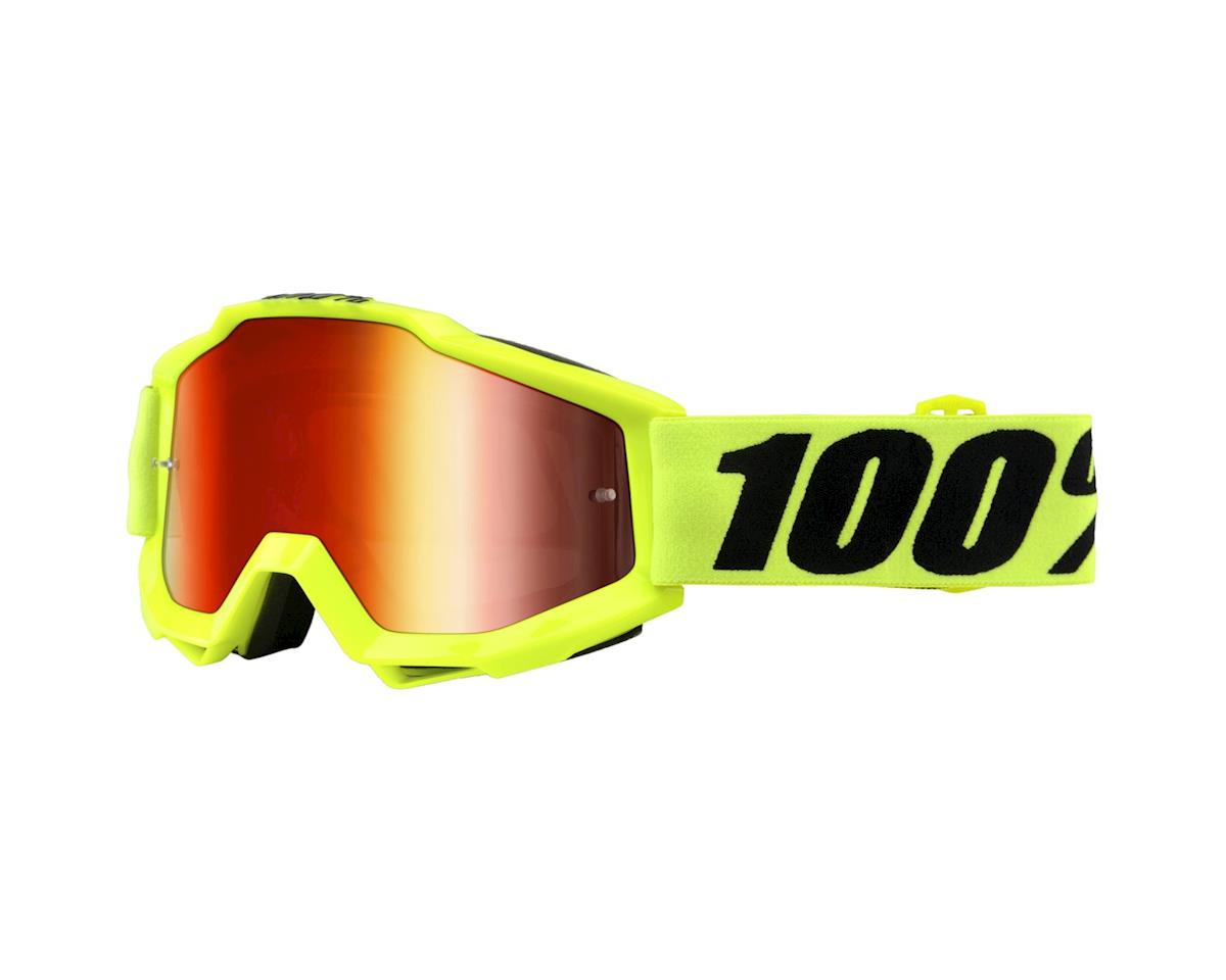 100% Accuri Goggle (Fluo Yellow) (Mirror Red & Clear Lens)