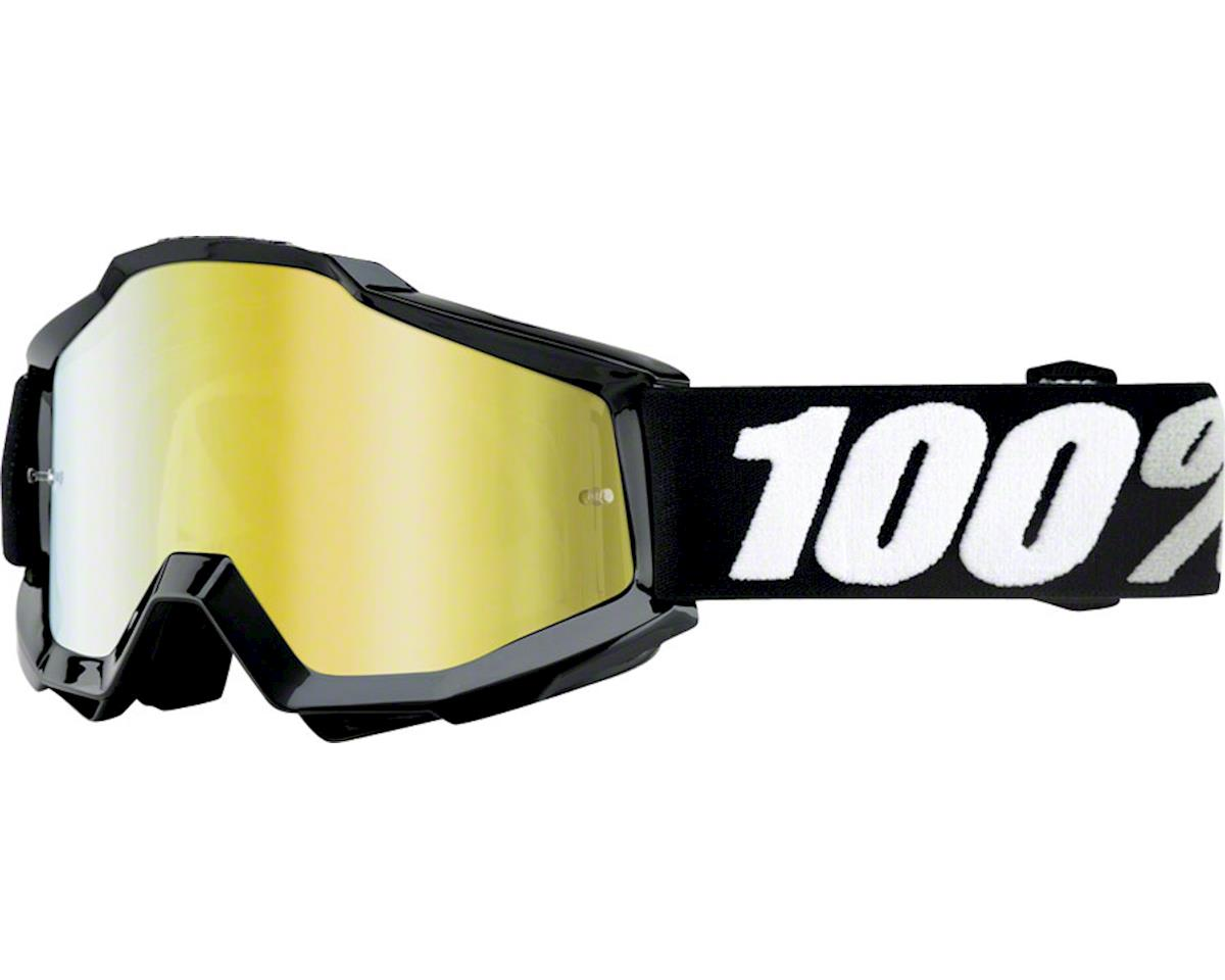100% Accuri Goggle (Black Tornado) (Mirror Gold & Clear Lens)