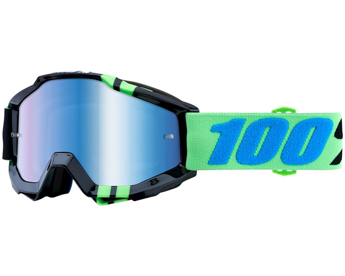 100% Accuri Goggle: Zerg with Mirror Blue Lens, Spare Clear Lens Included