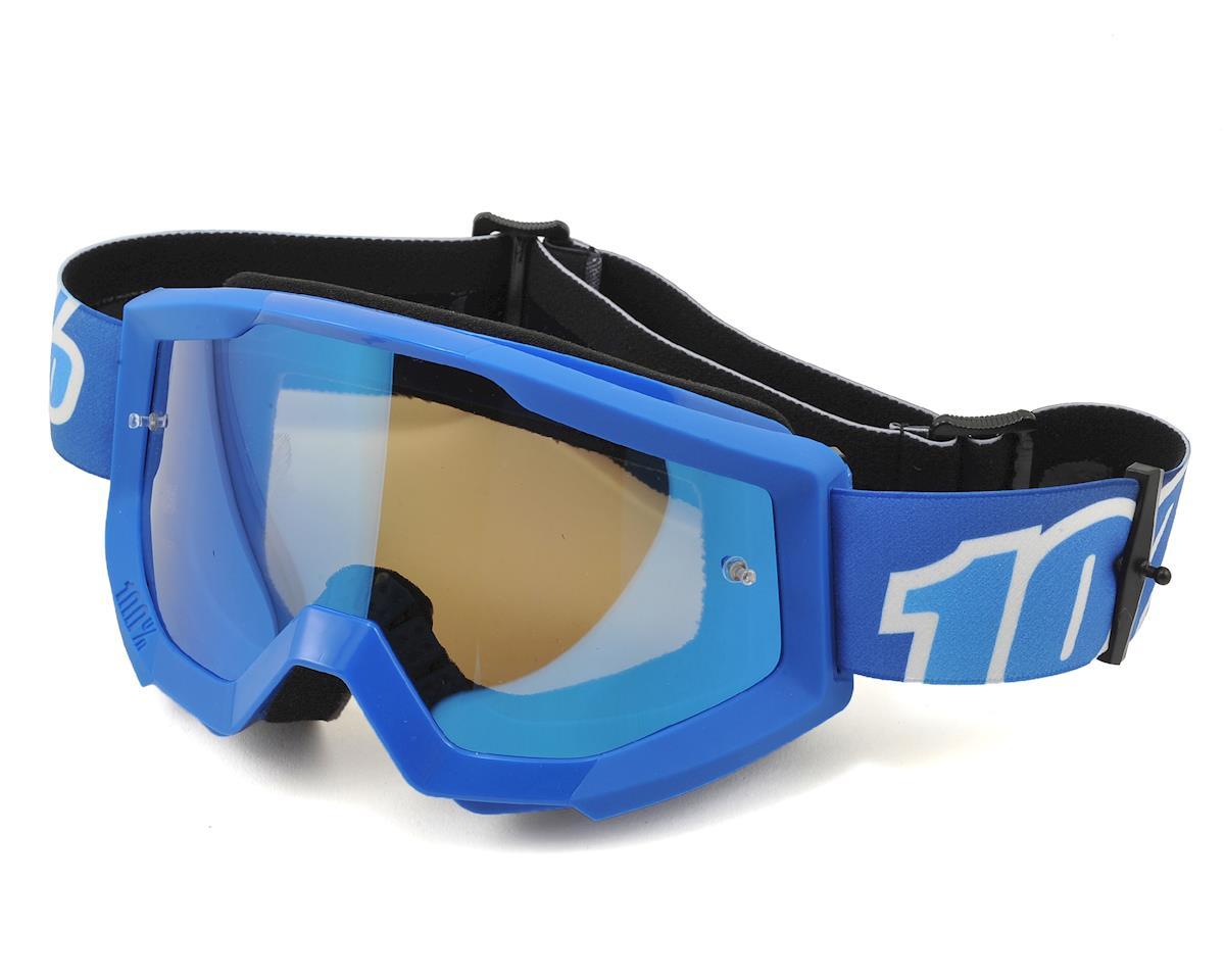 100% Strata Goggles (Blue Lagoon) (Mirror Blue Lens)