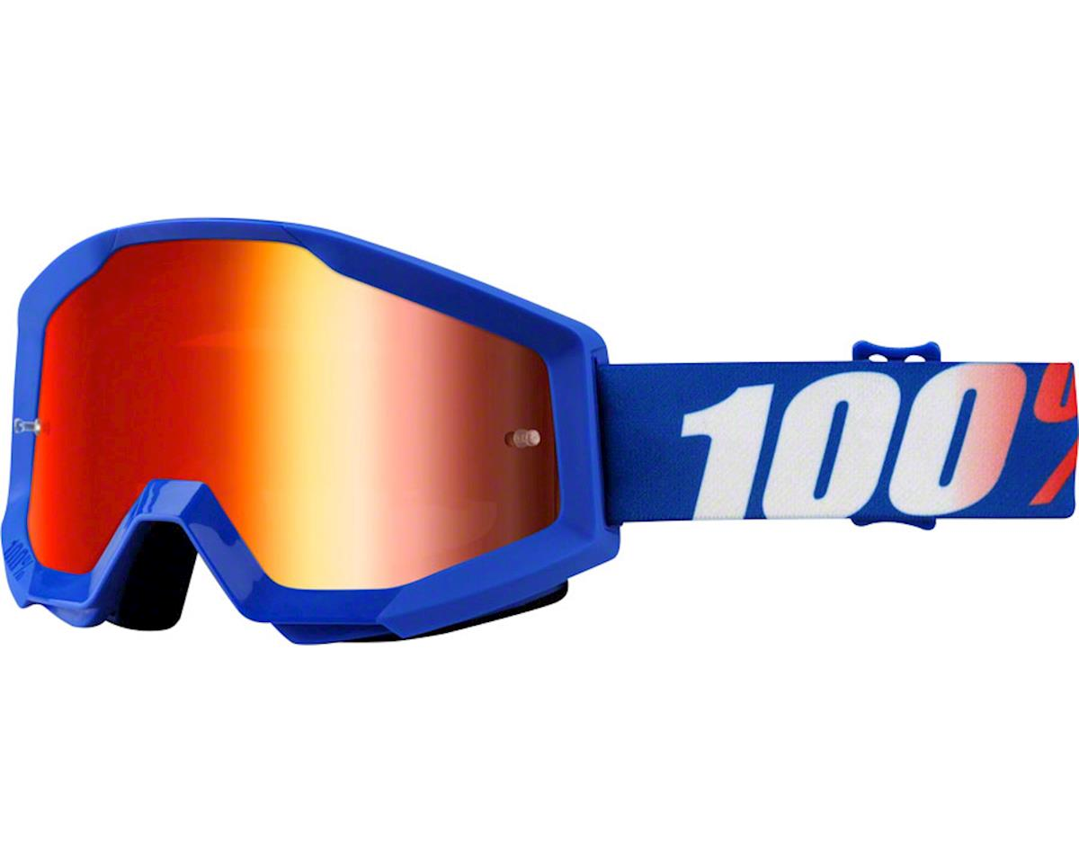 100% Strata Goggle (Nation) (Mirror Blue Lens)