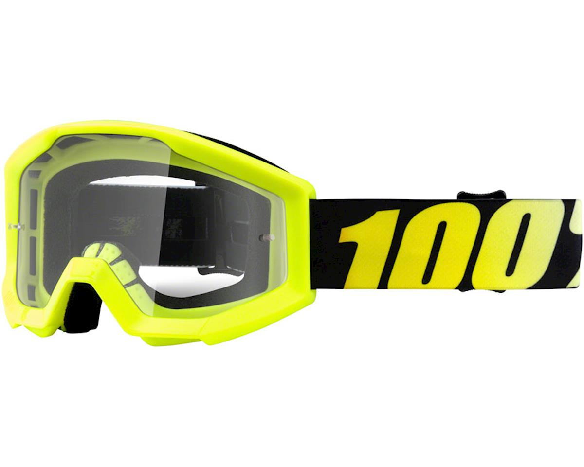 100% STRATA JR Goggles (Neon Yellow) (Clear Lens)
