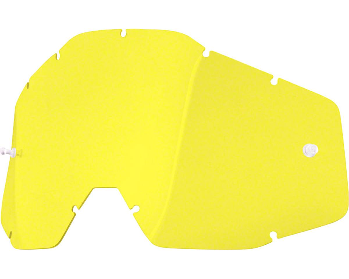100% Racecraft/Accuri/Strata Replacement Lens (Yellow Anti-Fog Lens)