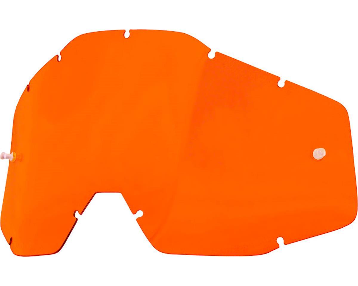 100% Racecraft/Accuri/Strata Replacement Lens (Orange Anti-Fog Lens)