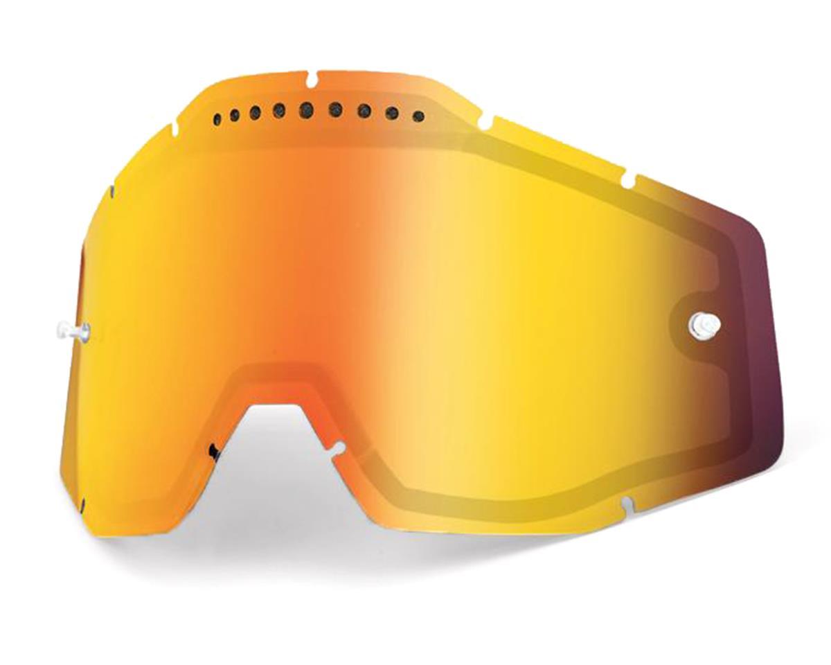 100% Vented Dual Pane Lens (Anti-Fog/Red Mirror)