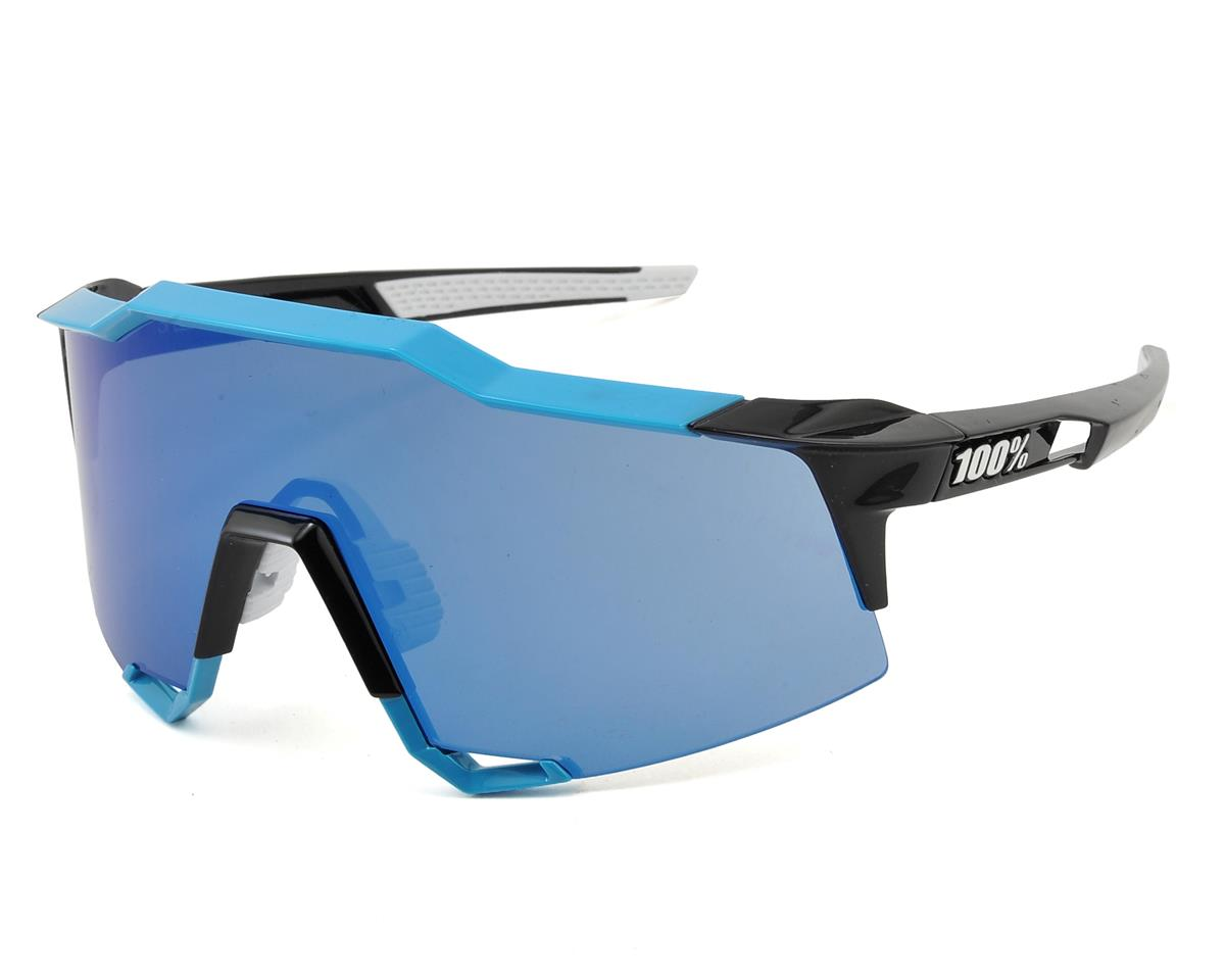 100% SpeedCraft Sunglasses (Pure Cyan/Phantom Black) (Mirror Sky Lens)