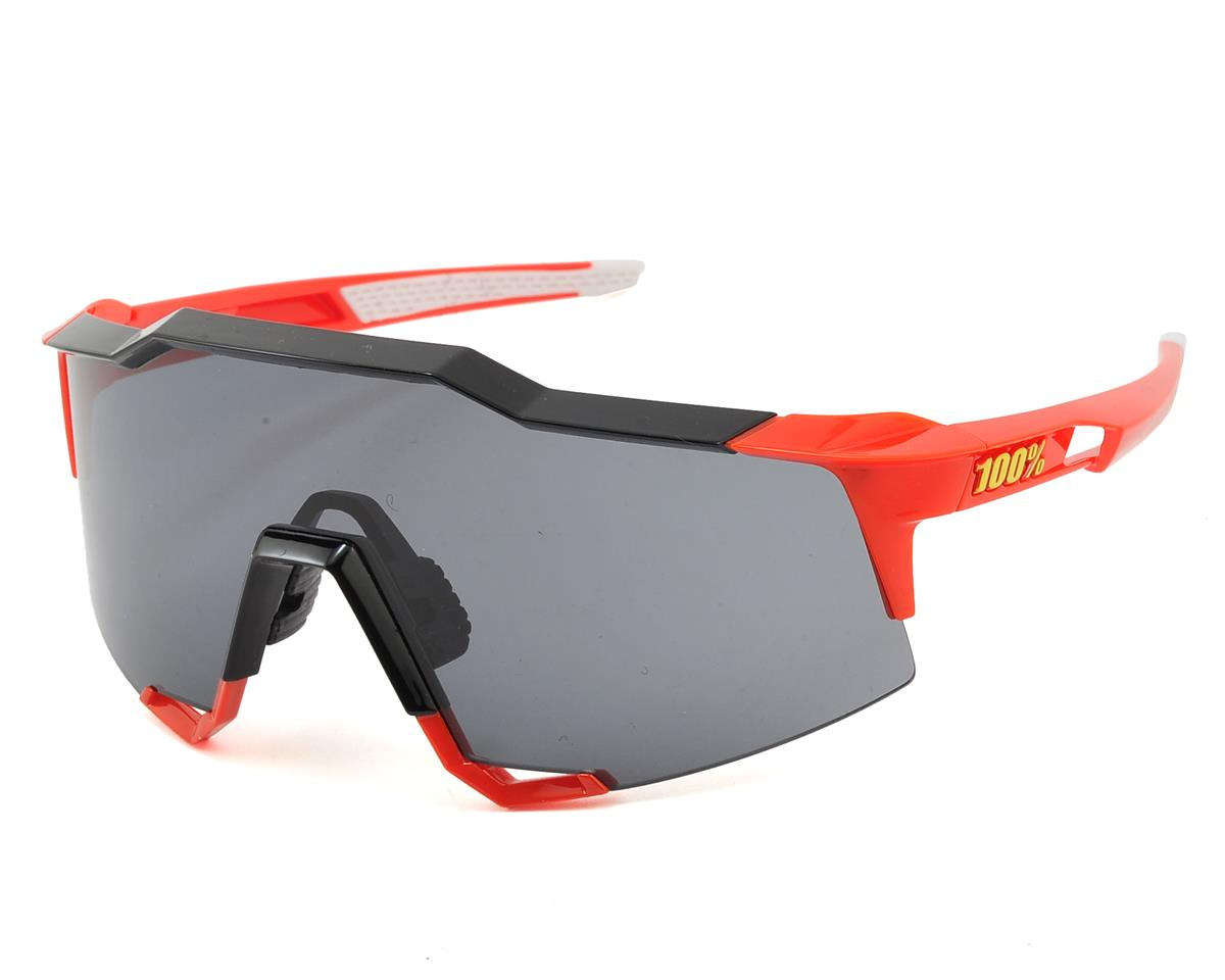 100% Speedcraft Sunglasses (Red/Black) (Long Smoke Lens)