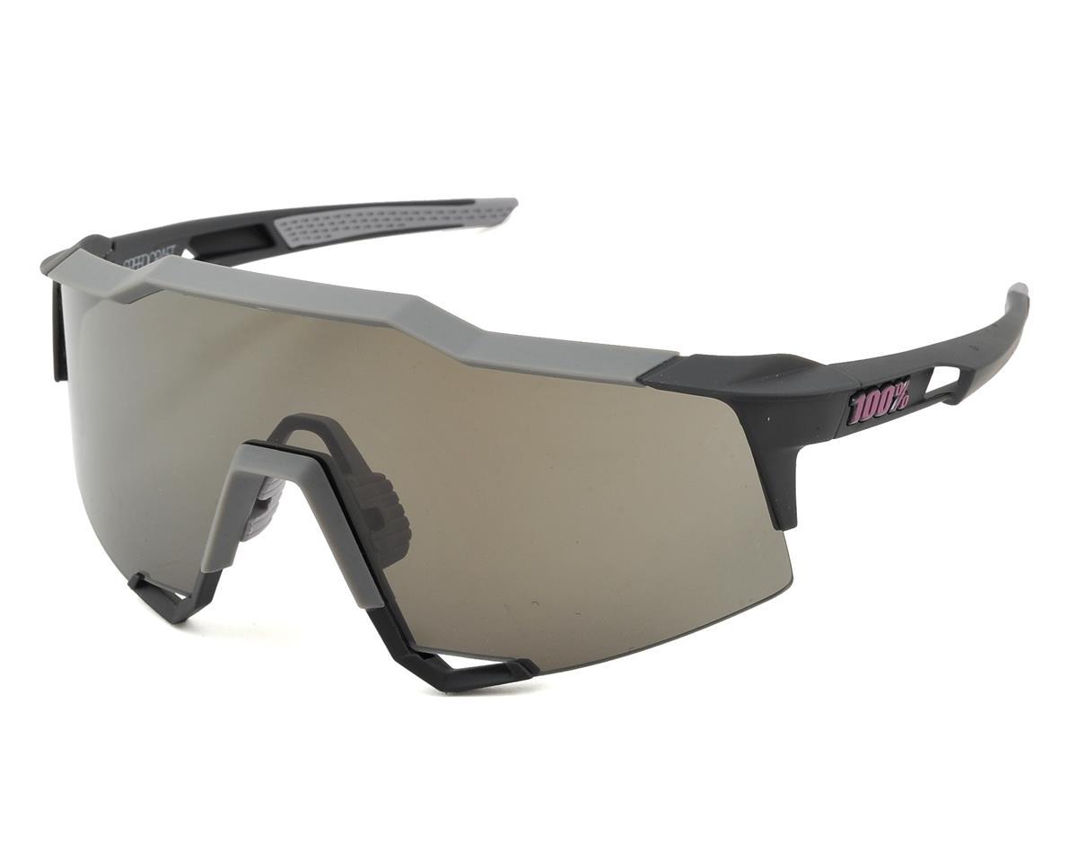 100% Speedcraft Sunglasses (Graphite) (Long Smoke Lens)