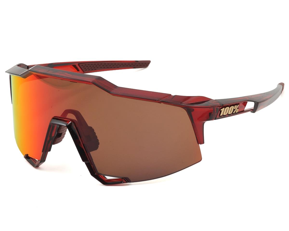 100% SpeedCraft Sunglasses (Cherry Palace) (Deep Red Mirror Lens)