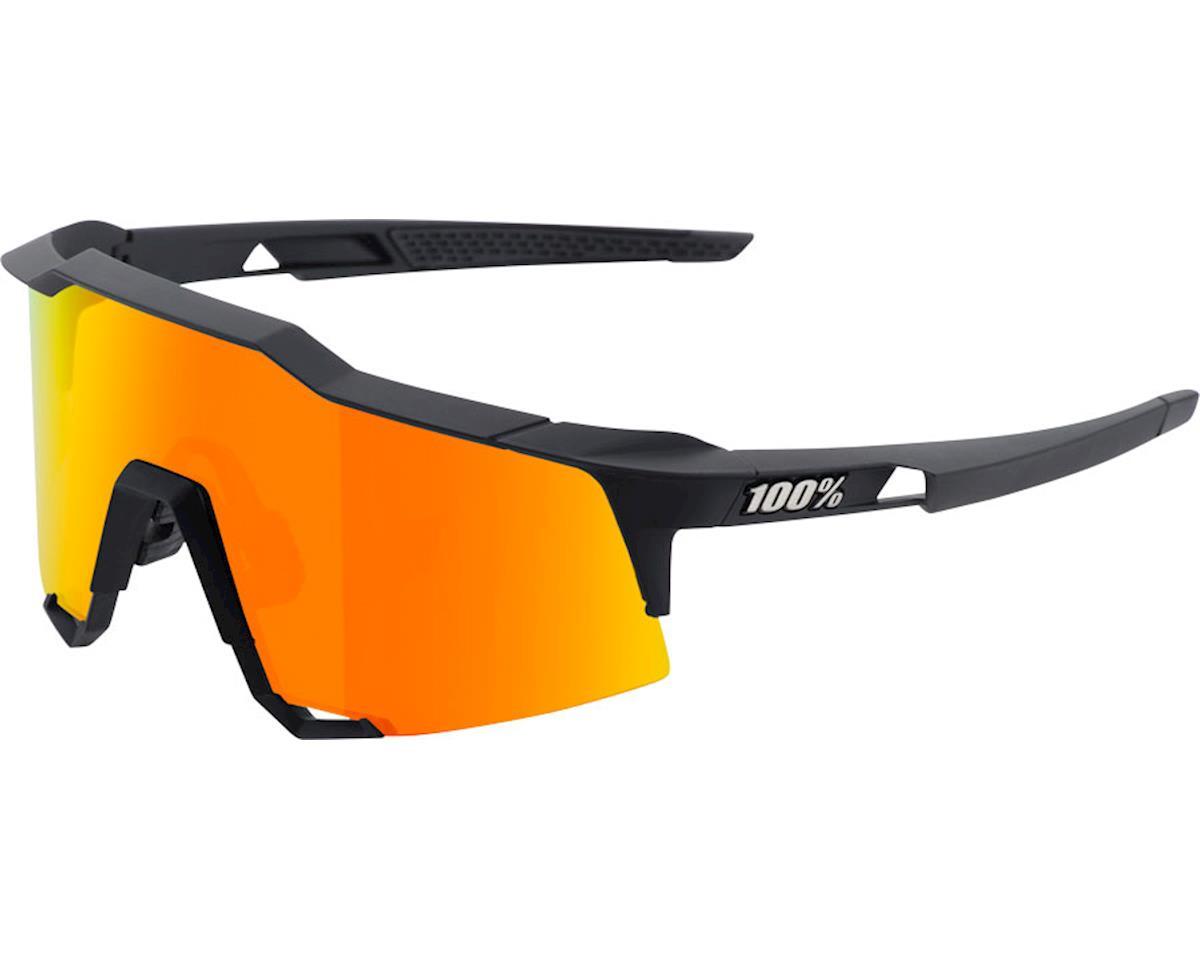 eeb48b889f 100% Speedcraft Sunglasses  Soft Tact Black Frame with HiPER Red Multilayer  Mirr ...