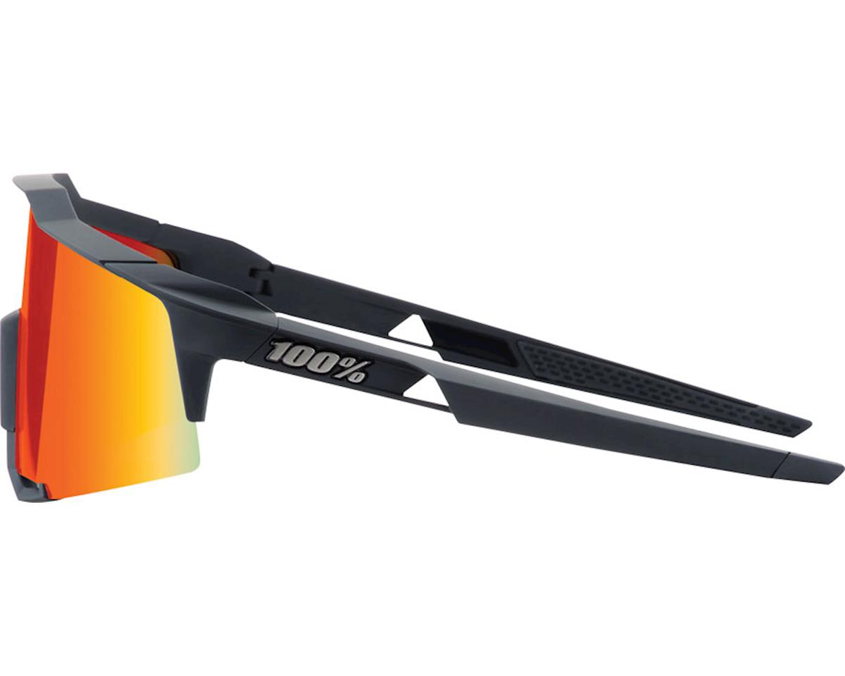 Image 3 for 100% Speedcraft Sunglasses: Soft Tact Black Frame with HiPER Red Multilayer Mirr