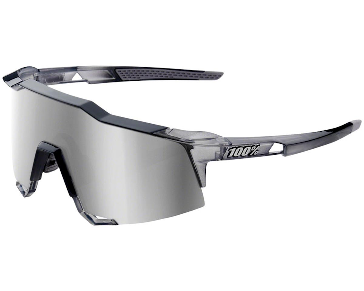 100% Speedcraft Sunglasses (Translucent Grey) (Grey Mirror)