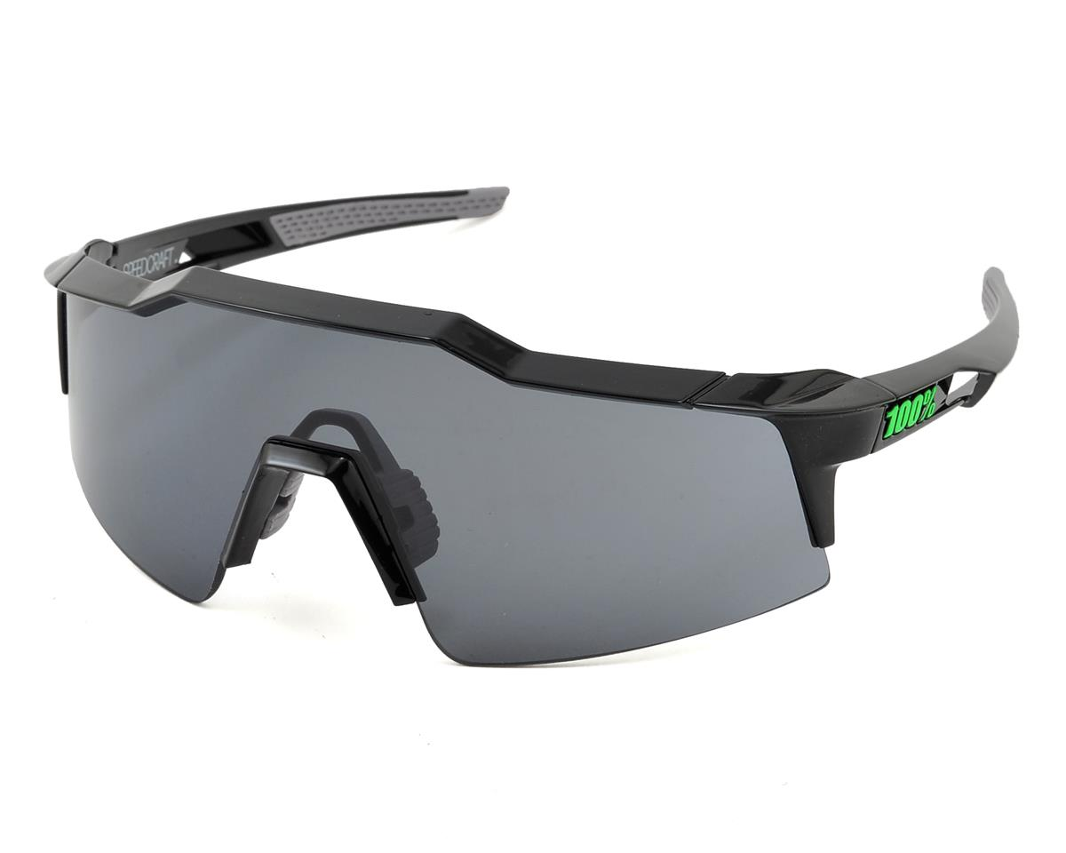 100% Speedcraft SL Sunglasses (Black) (Short Smoke Lens)