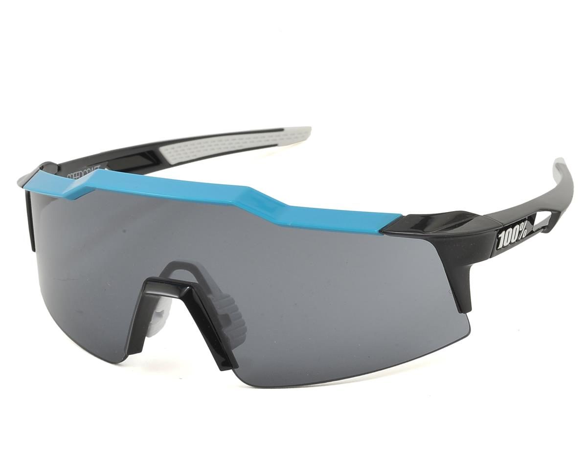 100% Speedcraft SL Sunglasses (Pure Cyan) (Short Smoke Lens)