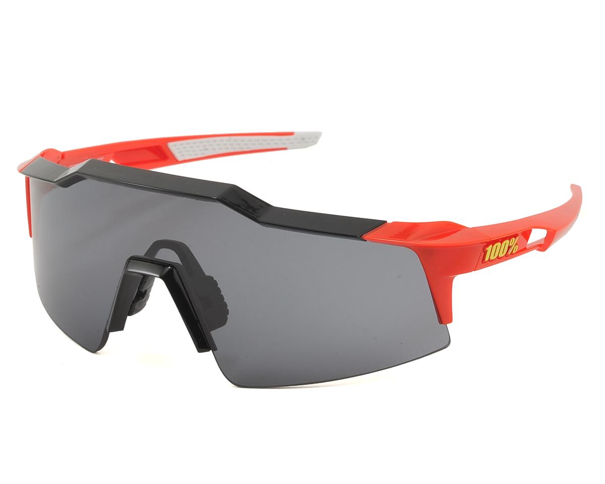 100% Speedcraft SL Sunglasses (Fire Red) (Short Smoke Lens)
