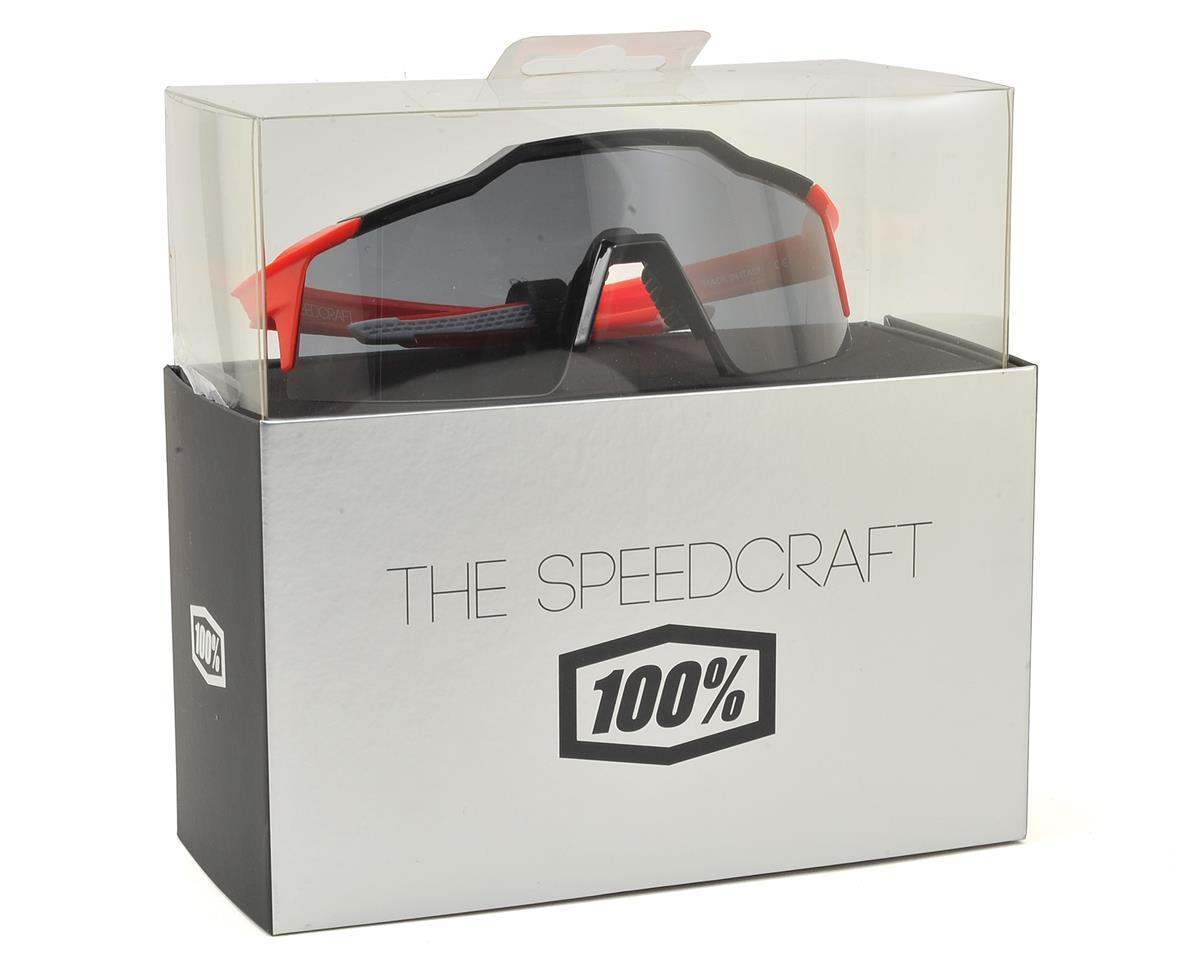 100% Speedcraft SL Sunglasses (Fire Red) (Short Smoke Lens)