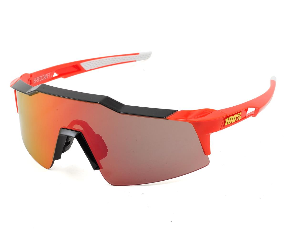 Speedcraft SL Sunglasses (Fire Red/Phantom Black) (Red Mirror Lens)