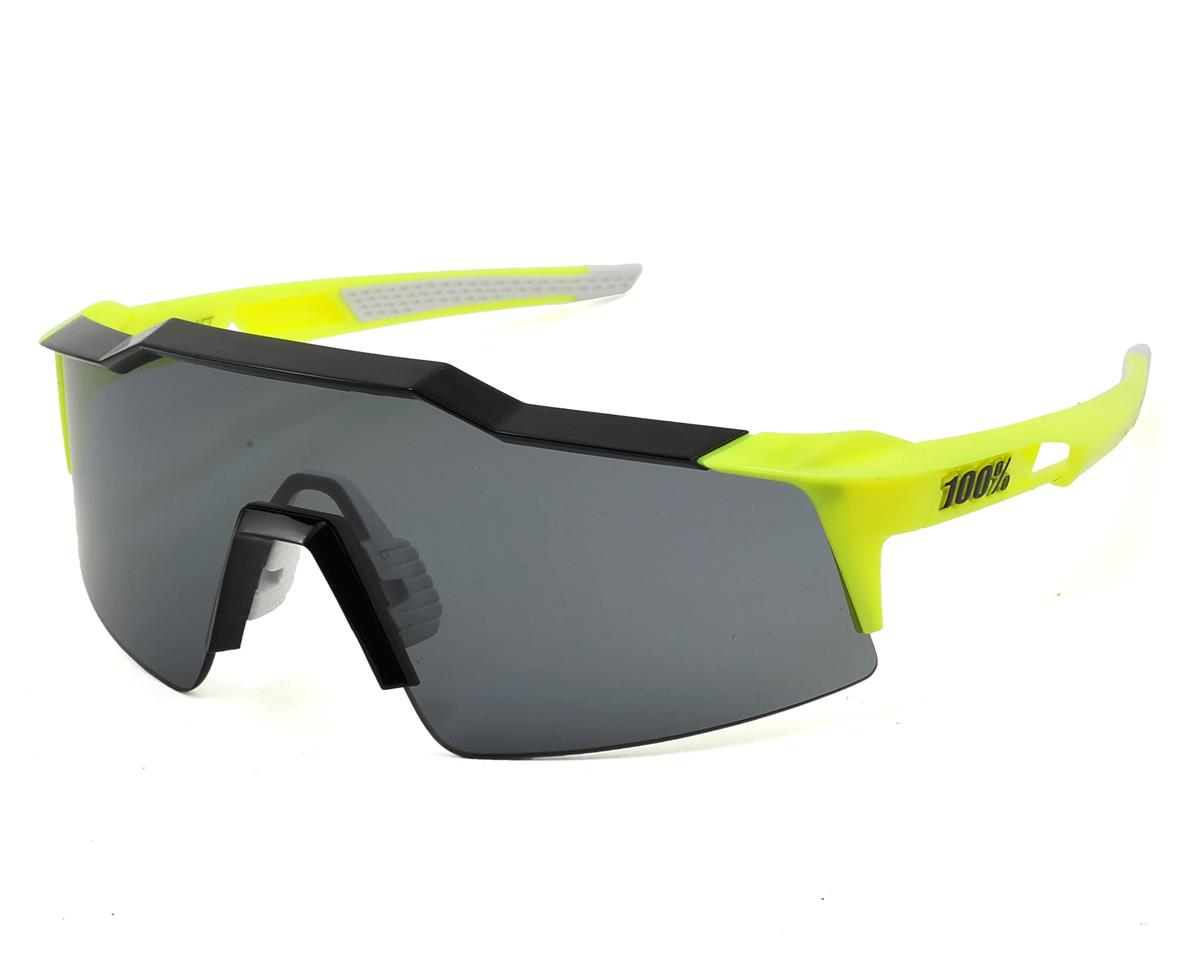 100% Speedcraft SL Sunglasses (Yellow/Black) (Short Smoke Lens)
