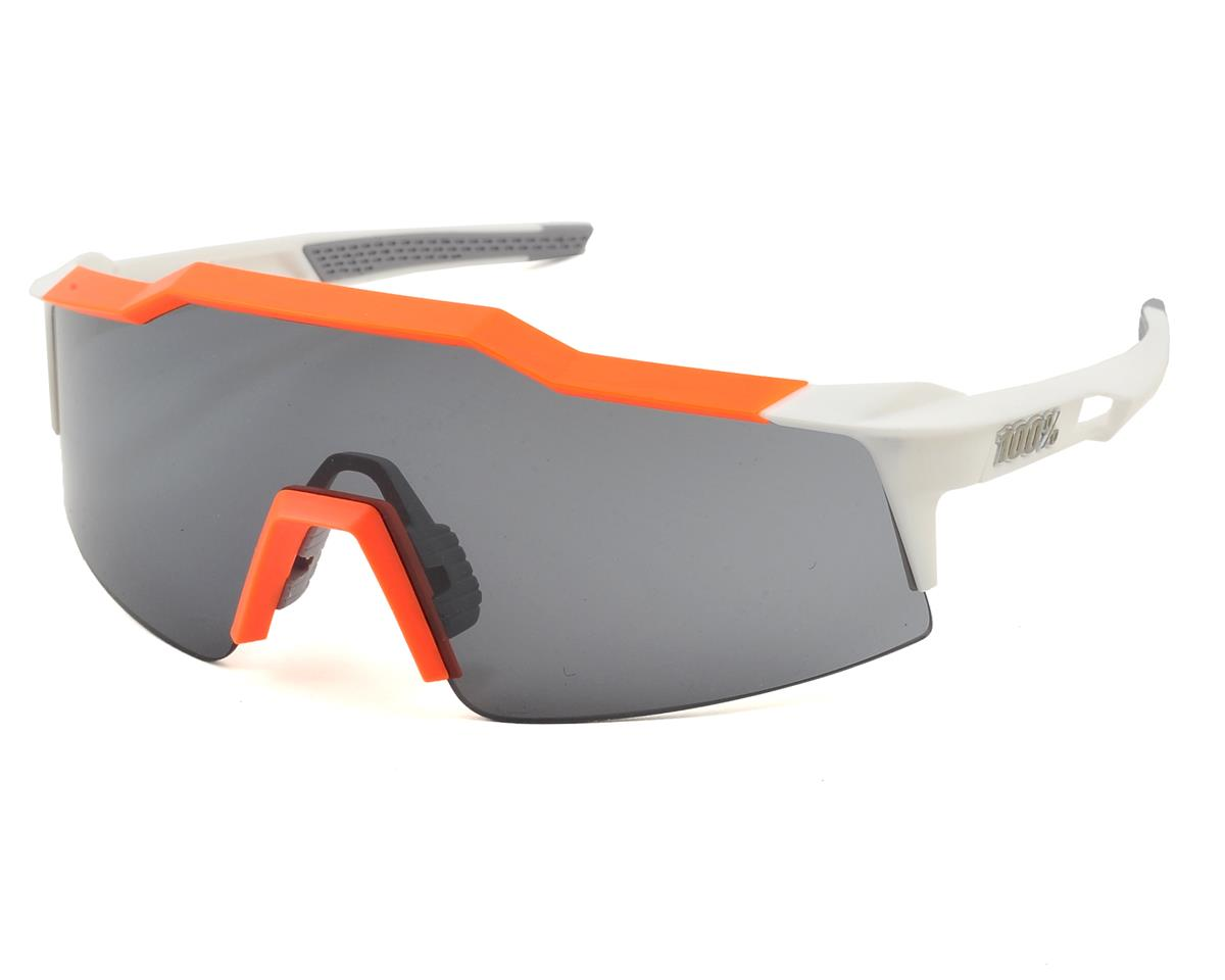 100% Speedcraft SL Sunglasses (White/Orange) (Short Smoke Lens)