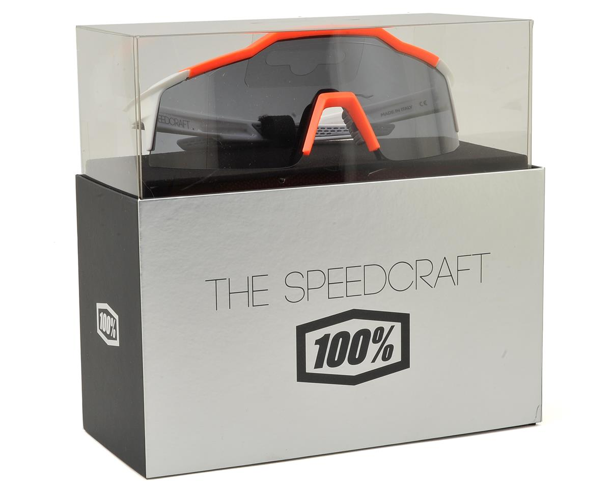 100% Speedcraft SL Sunglasses (White/Orange) (Short Smoke Lens)