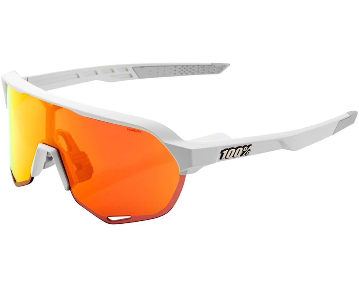 100% S2 Sunglasses (Matte Off White) (HiPER Red Mirror Lens)