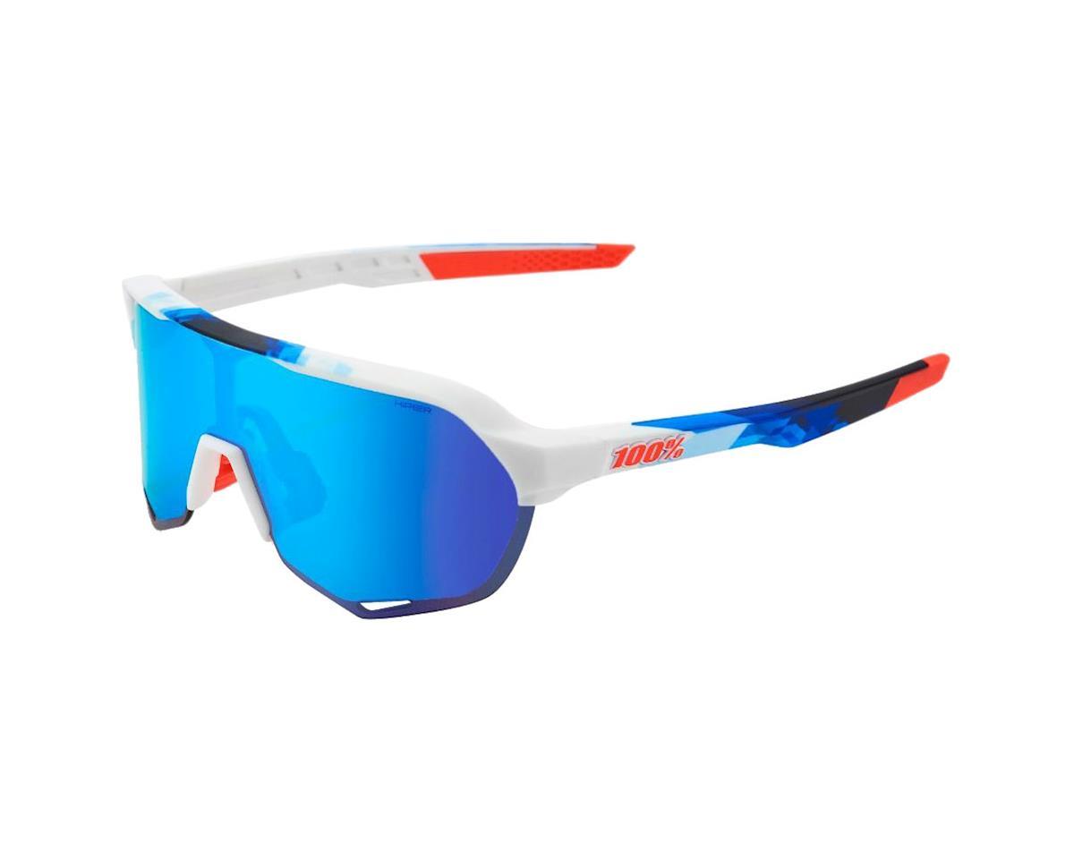 40ae20c9d29 100% S2 Sunglasses (White Geo Print) (HiPER Blue Mirror Lens)  61003 ...