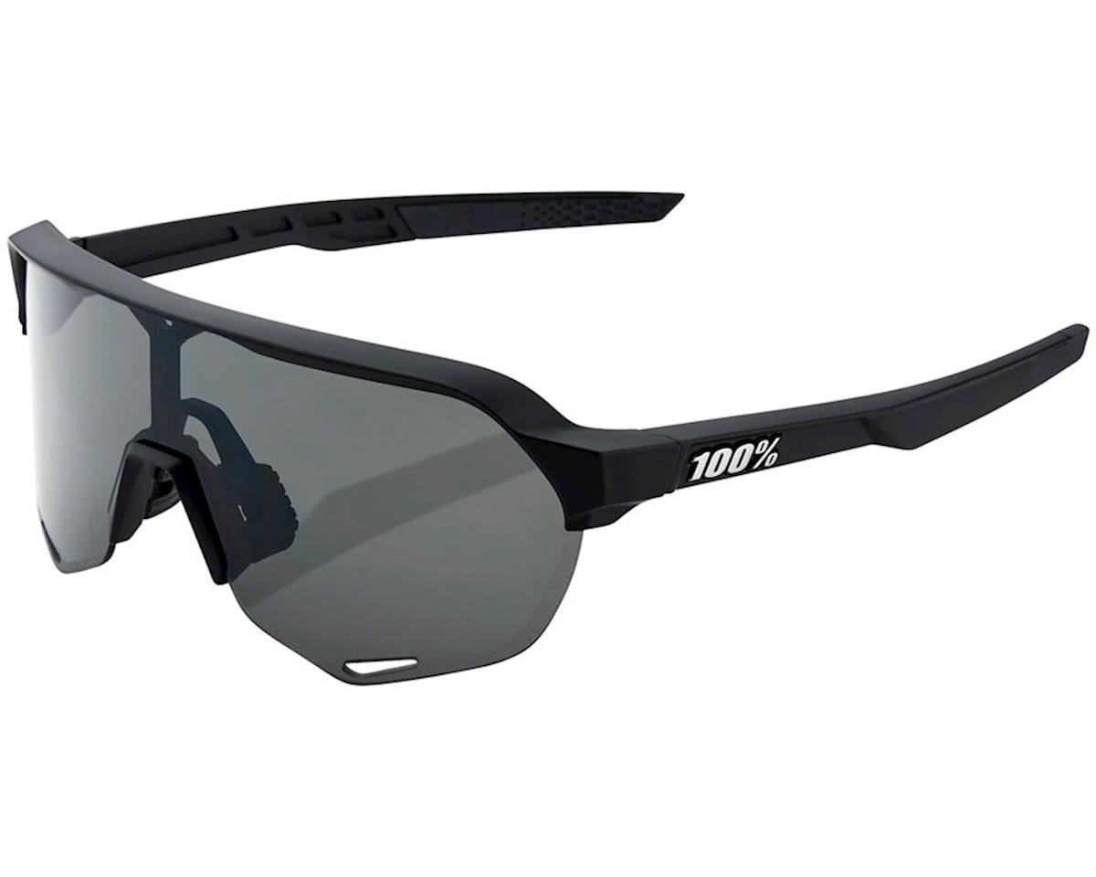 100% S2 Sunglasses (Soft Tact Black) (Smoke Lens)