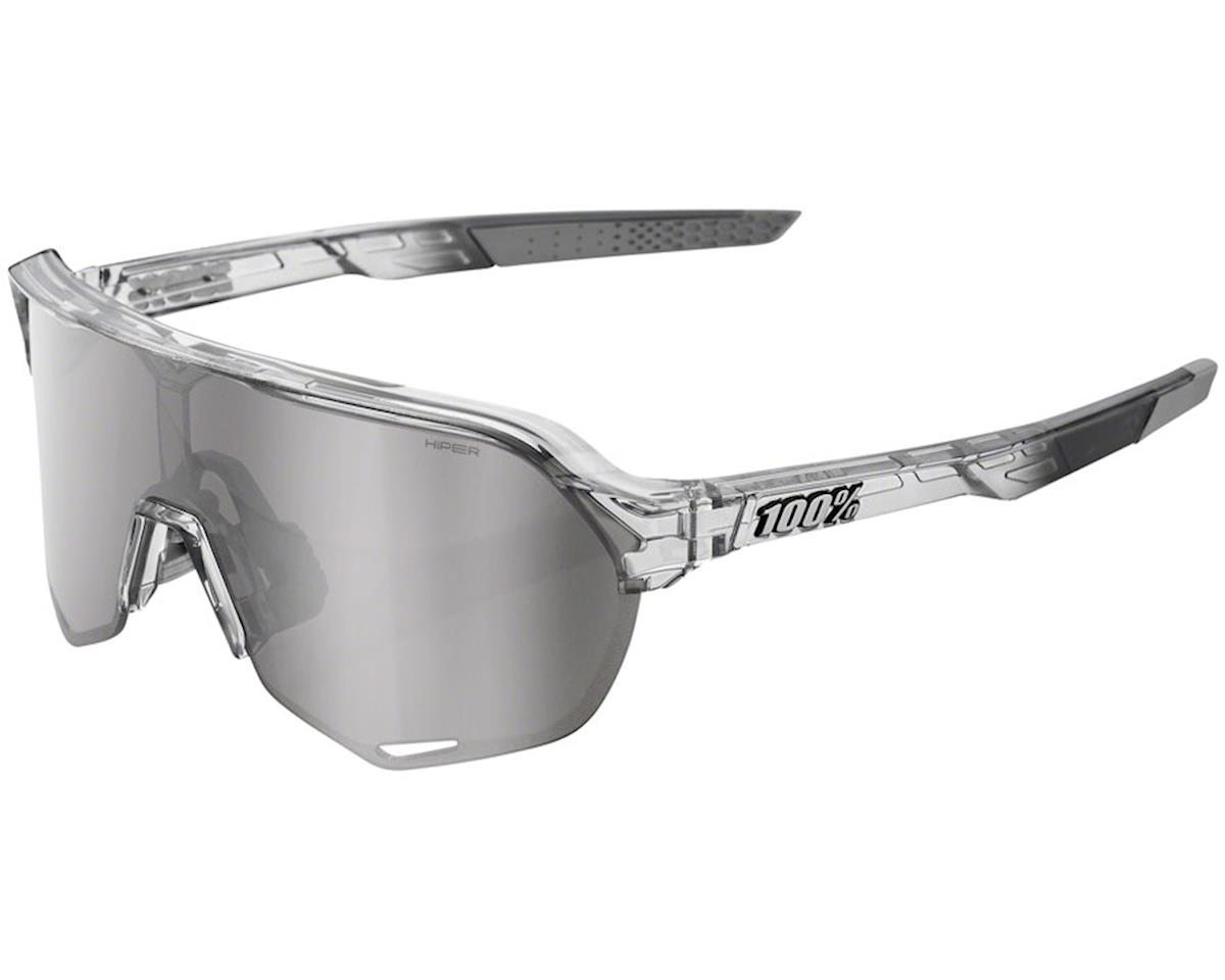 100% S2 Sunglasses (Translucent Grey) (HiPER Silver Mirror)