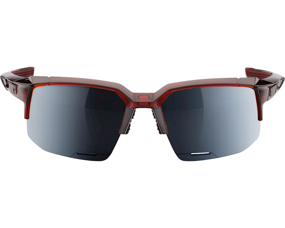 100% Speedcoupe Sunglasses: Cherry Palace Frame with Black Mirror Lens, Spare Cl