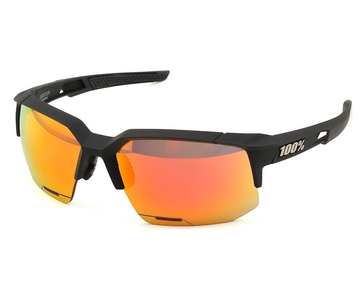 11b5a4e447 100% Speedcoupe Sunglasses (Soft Tact Black) (HiPER Red Multilayer Mirror)   61021-100-43