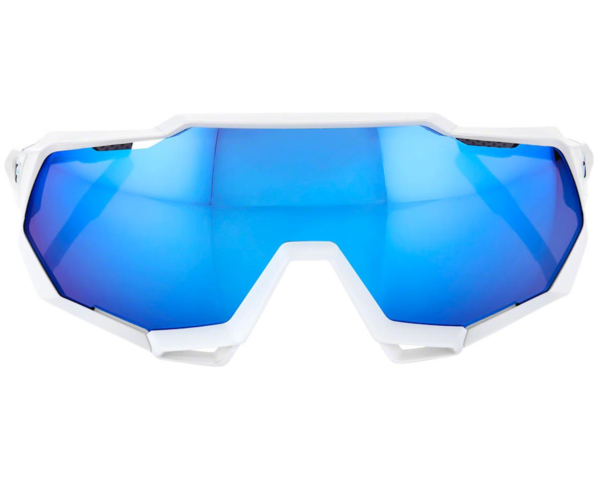 Image 2 for 100% Speedtrap Sunglasses (Matte White) (HiPER Blue Mirror)