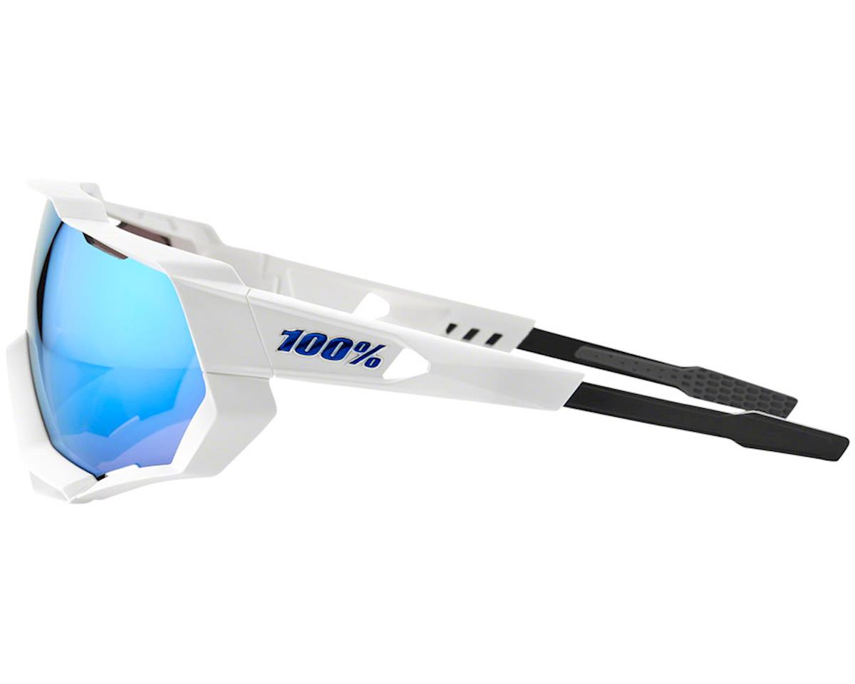 Image 3 for 100% Speedtrap Sunglasses (Matte White) (HiPER Blue Mirror)