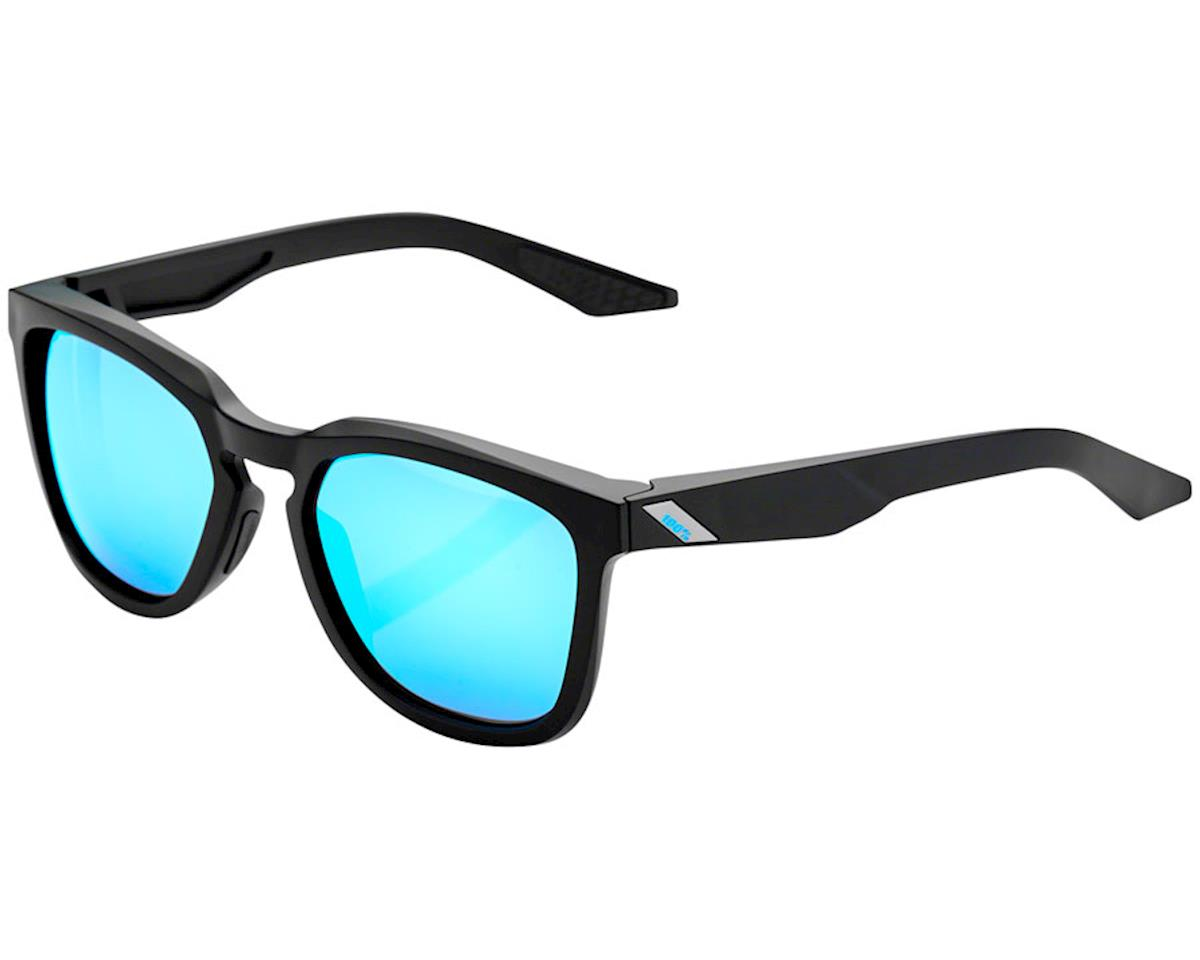 100% Hudson Sunglasses (Matte Black) (HiPER Blue Multi Mirror)