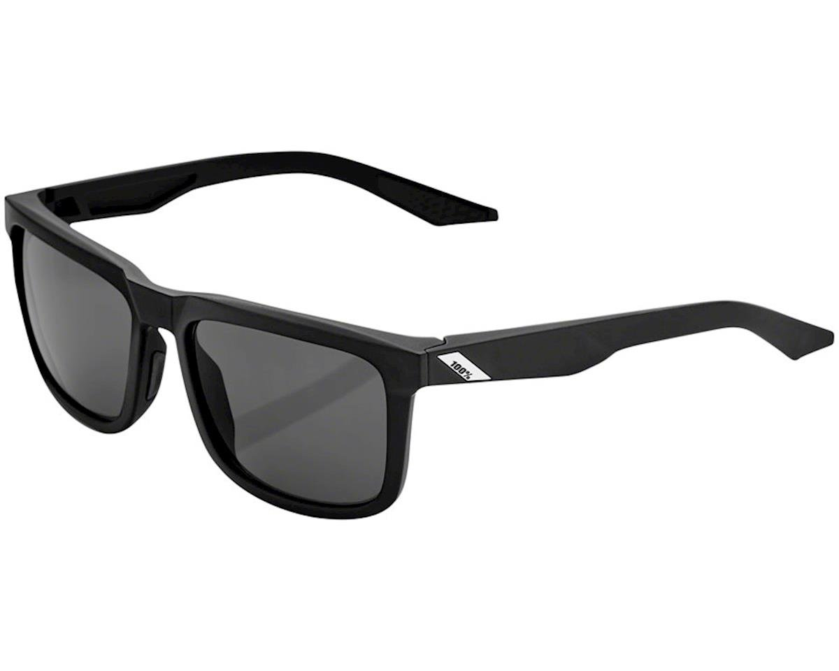 100% Blake Sunglasses (Soft Tact Black) (Smoke Lens)