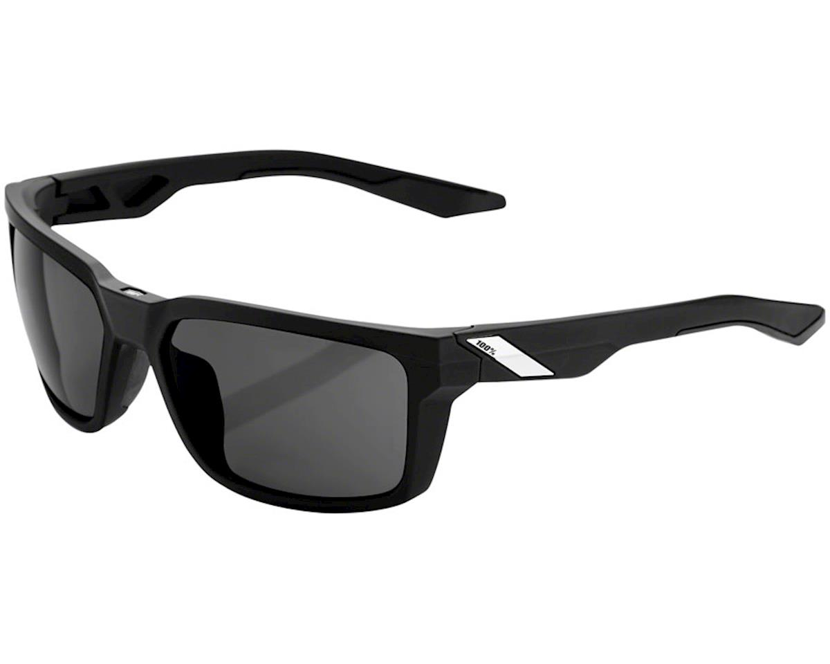 100% Daze Sunglasses (Soft Tact Black) (Smoke Lens)