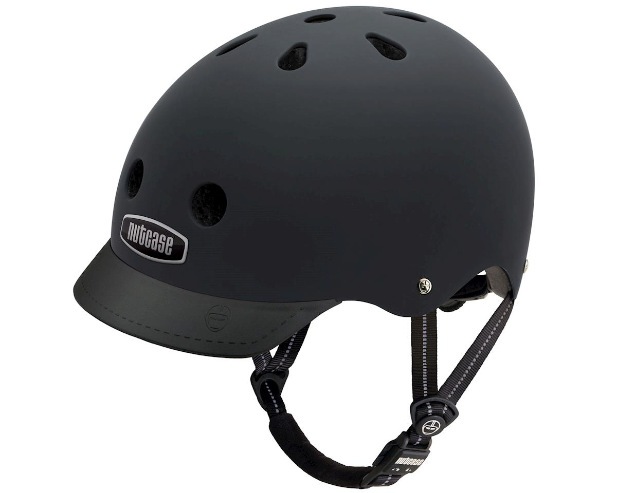 Street Helmet: Blackish Matte MD