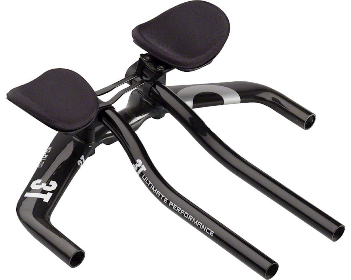 3T Vola LTD Aerobar (Black) (S-Bend Extension) (38cm Width) (0mm Drop)