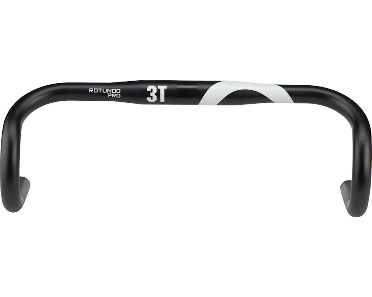 3T Rotundo Pro Handlebar: 31.8mm Clamp, 139mm Drop, 83mm Reach, 40cm Width, Blac