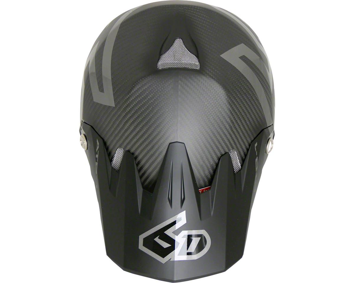 6D Helmets ATB-1 DH/BMX Carbon Macro Full Face Helmet (Black) (XS)