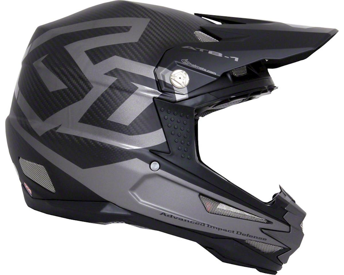 ATB-1 DH/BMX Carbon Macro Full Face Helmet (Black)
