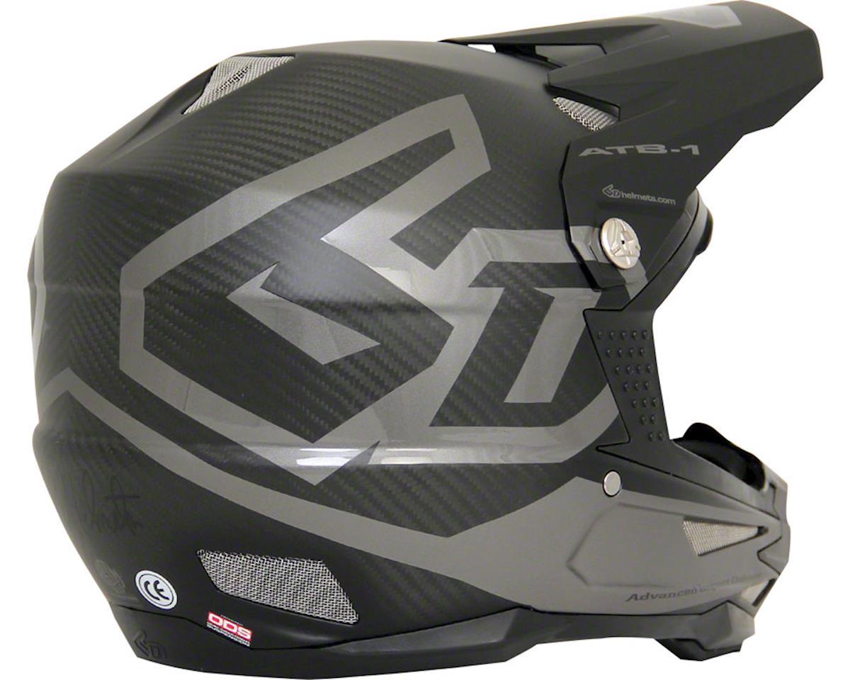 6D Helmets ATB-1 DH/BMX Carbon Macro Full Face Helmet (Black) (L)