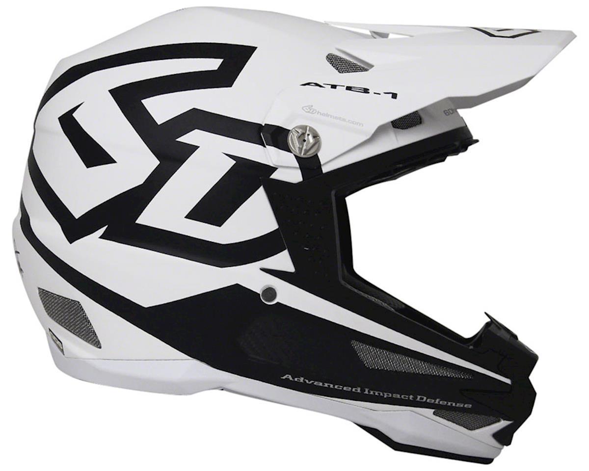 6D ATB-1 Carbon Macro DH/BMX Helmet: Matte White, LG